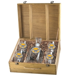 Kennesaw State University Capitol Decanter Set w/ Box - Enameled