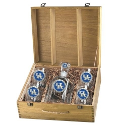 University of Kentucky Capitol Decanter Set w/ Box - Enameled