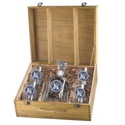 University of Memphis Capitol Decanter Set w/ Box - Enameled