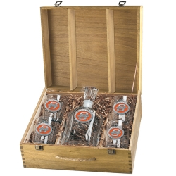 Oklahoma State University Capitol Decanter Set w/ Box - Enameled