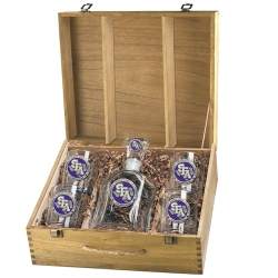 Stephen F. Austin University Capitol Decanter Set w/ Box - Enameled