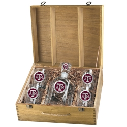 Texas A&M University Capitol Decanter Set w/ Box - Enameled