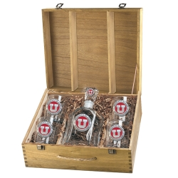 University of Utah Capitol Decanter Set w/ Box - Enameled