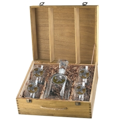 Ruffed Grouse Capitol Decanter Set w/ Box - Enameled
