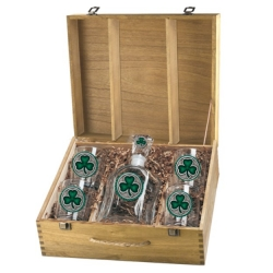 Clover Capitol Decanter Set w/ Box - Enameled