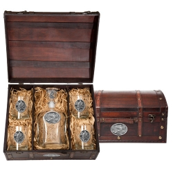 Eagle Capitol Decanter Set w/ Chest