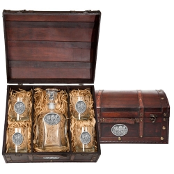 Wolves Capitol Decanter Set w/ Chest