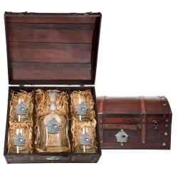 Birdhouse Capitol Decanter Set w/ Chest