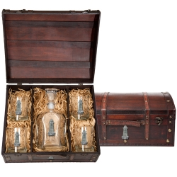 Lighthouse Capitol Decanter Set w/ Chest