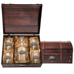 Armadillo Capitol Decanter Set w/ Chest