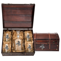 End of the Trail Capitol Decanter Set w/ Chest