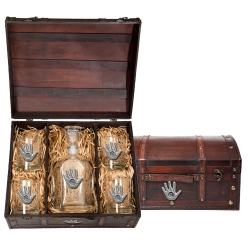 Spirit Hand Capitol Decanter Set w/ Chest