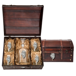 Illinois Capitol Decanter Set w/ Chest