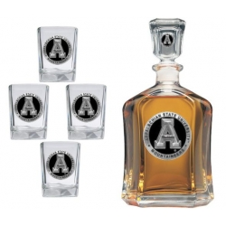 Appalachian State University Capitol Decanter Set - Enameled