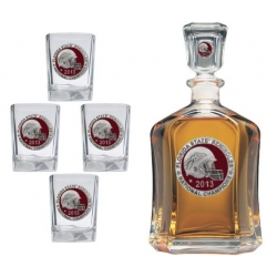 2013 BCS National Champions Florida State Seminoles Capitol Decanter Set - Enameled