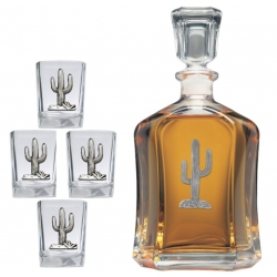 Saguaro Cactus Capitol Decanter Set