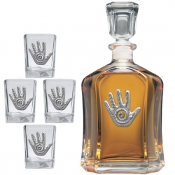 Spirit Hand Capitol Decanter Set