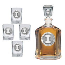 University of Illinois Capitol Decanter Set