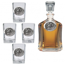 """Naval Academy """"Bill the Goat"""" Capitol Decanter Set"""