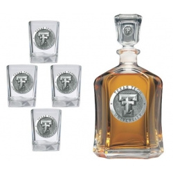 Texas Tech University Capitol Decanter Set