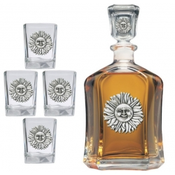 Sunface Capitol Decanter Set
