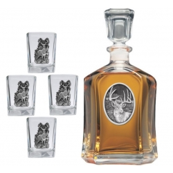 Whitetail Deer Capitol Decanter Set #2