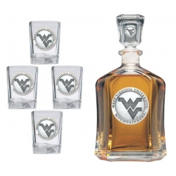 West Virginia University Capitol Decanter Set