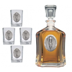 "ASU ""Pitchfork"" Capitol Decanter Set"
