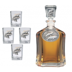 Dolphin Capitol Decanter Set