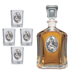 Mermaid Capitol Decanter Set