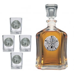 Sand Dollar Capitol Decanter Set