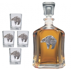 Bear Fetish Capitol Decanter Set