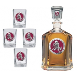 "ASU ""Sparky"" Capitol Decanter Set - Enameled"