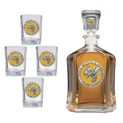 "Georgia Institute of Technology ""Yellow Jackets"" Capitol Decanter Set - Enameled"