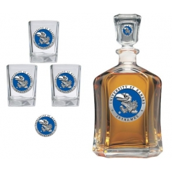 University of Kansas Capitol Decanter Set - Enameled