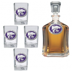 Kansas State University Capital Decanter Set - Enameled