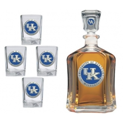 University of Kentucky Capitol Decanter Set - Enameled