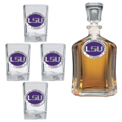 Louisiana State University Capitol Decanter Set - Enameled