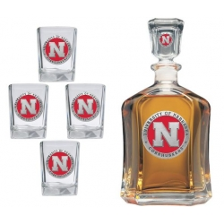 University of Nebraska Capitol Decanter Set - Enameled