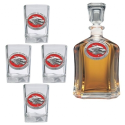 University of New Mexico Capitol Decanter Set - Enameled