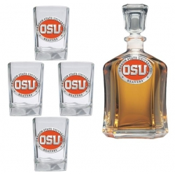 Oregon State University Capitol Decanter Set - Enameled