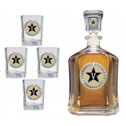 Vanderbilt University Capitol Decanter Set - Enameled
