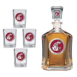 Washington State University Capitol Decanter Set - Enameled
