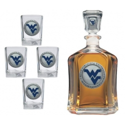 West Virginia University Capitol Decanter Set - Enameled