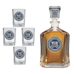 Coast Guard Capitol Decanter Set - Enameled