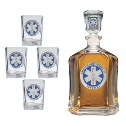 EMS Capitol Decanter Set - Enameled