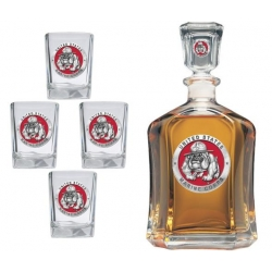 "Marine Corps ""Bulldogs"" Capitol Decanter Set - Enameled"