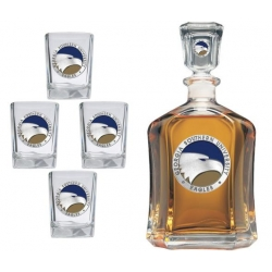 Georgia Southern University Capitol Decanter Set - Enameled