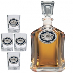 Pentagon Capitol Decanter Set - Enameled