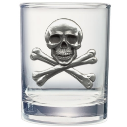 Skull & Bones Double Old Fashioned Glass